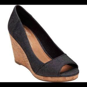 💥Toms Stella Peep Toe Wedge💥